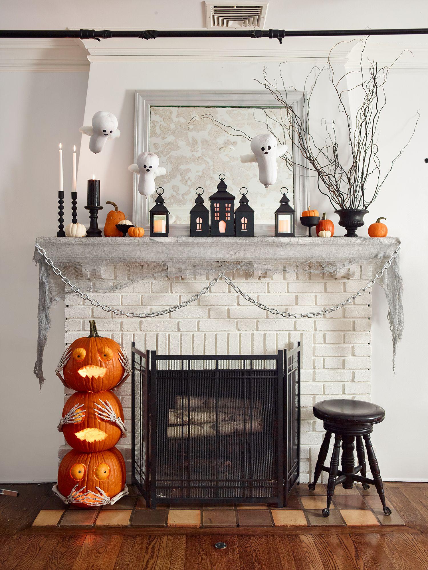 25 Stylish Fall Mantel Decor Ideas Best Autumn Mantel Decorations