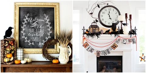 Fall Mantel Decorating Ideas Decorations