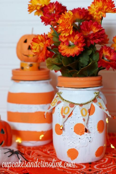 fall mason jar crafts halloween decorations