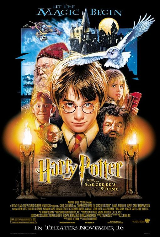 fall movies - harry potter and the sorcerer's stone