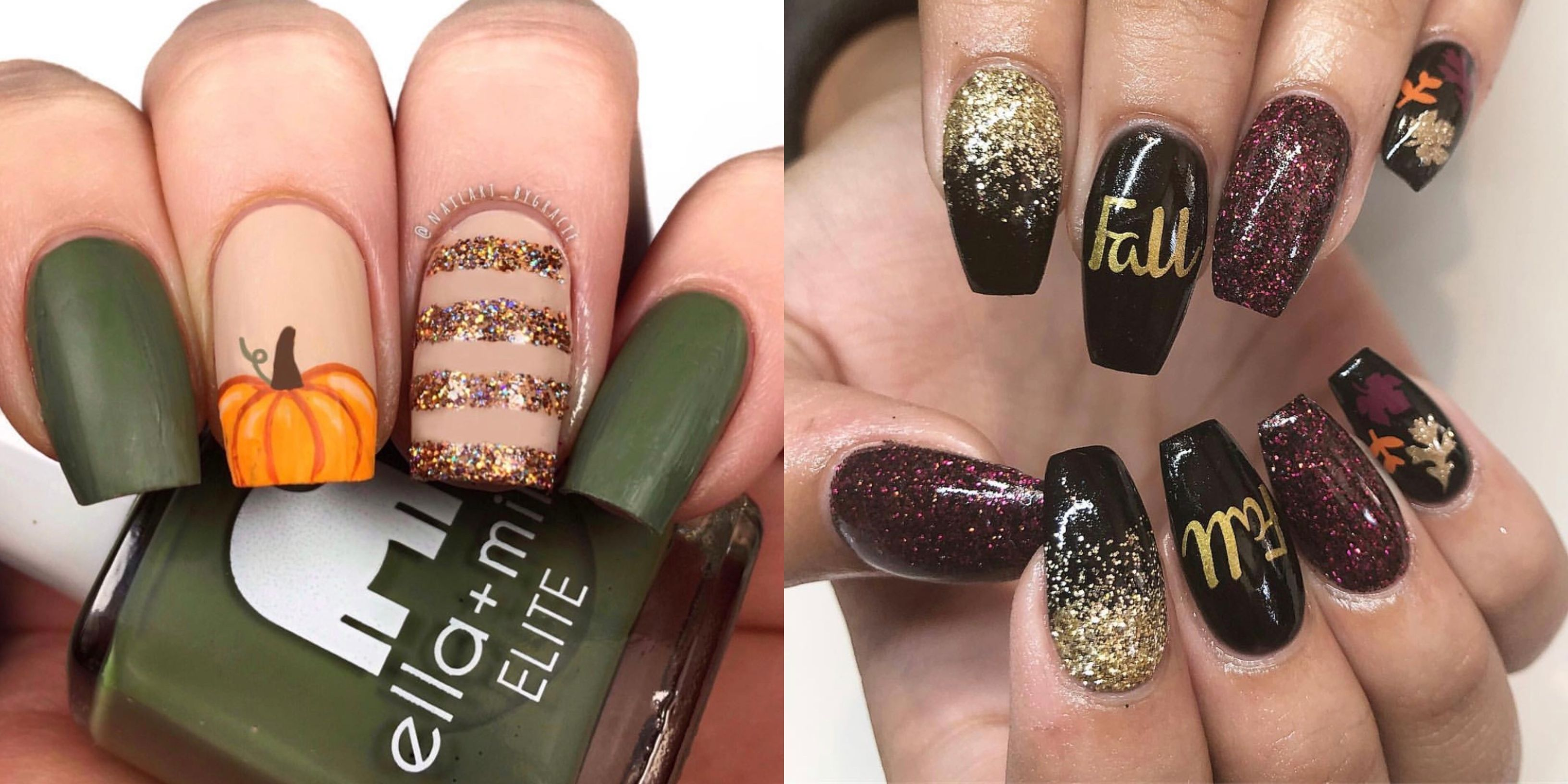 17 Best Fall Nail Designs , Fall Nail Art Ideas