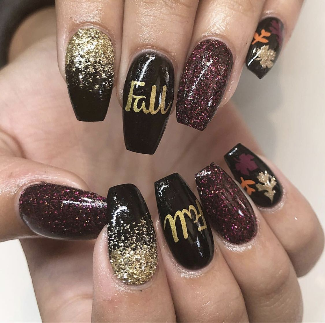 17 Best Fall Nail Designs , Fall Nail Art Ideas