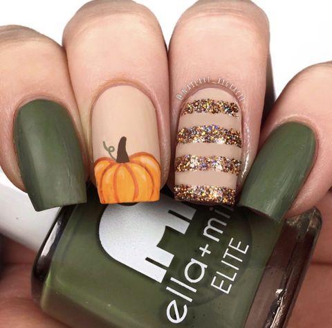 fall nail designs matte