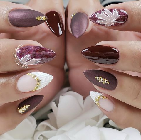 20 Best Fall Nail Designs - Fall Nail Art Ideas