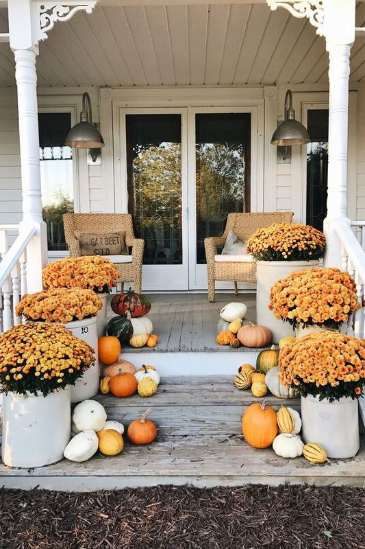 55 Fall Porch Decorating Ideas , Outdoor Fall Decor