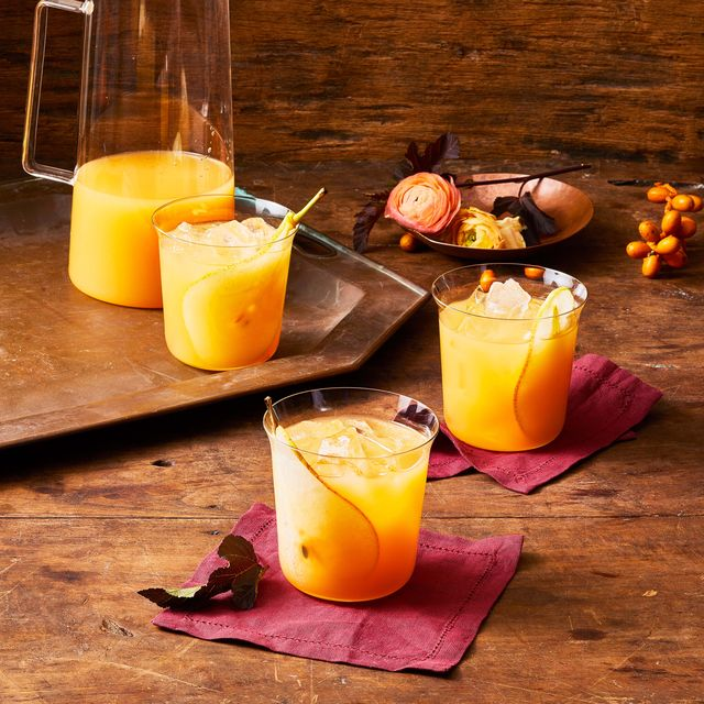 sparkling fall punch cocktail