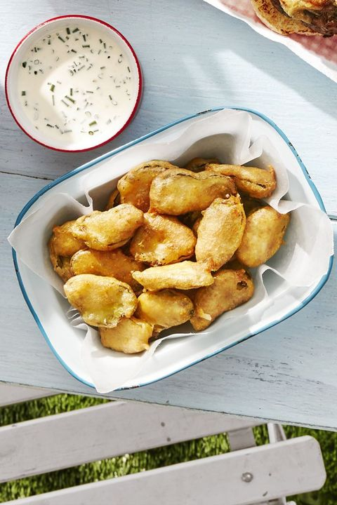 fall recipes fried pickles buttermilk ranch
