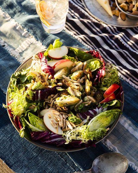crispy brussels sprouts salad with citrusmaple vinaigrette