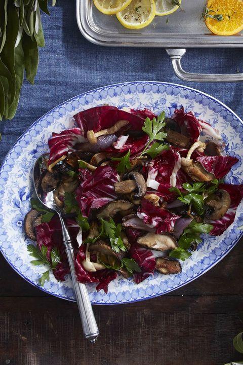 roasted mushrooms and radicchio