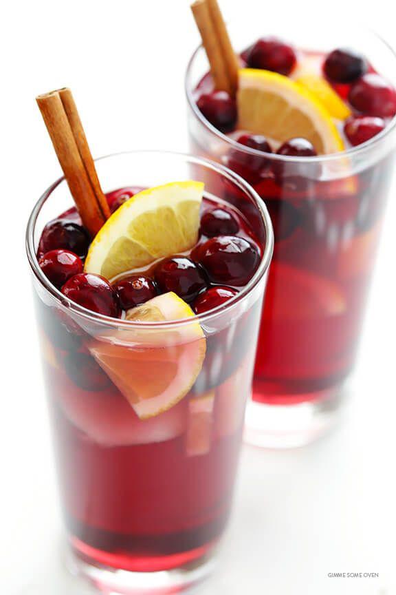 fall sangria recipes sparkling cranberry