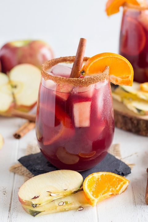 fall sangria red apple