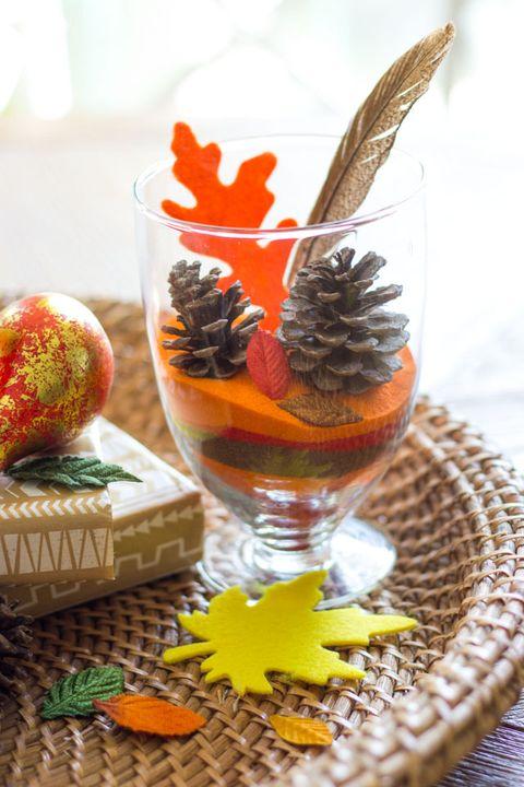 fall terrarium pine cone crafts