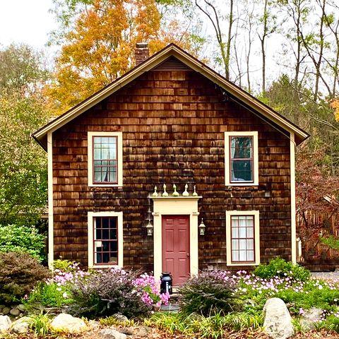 brown shingled house
