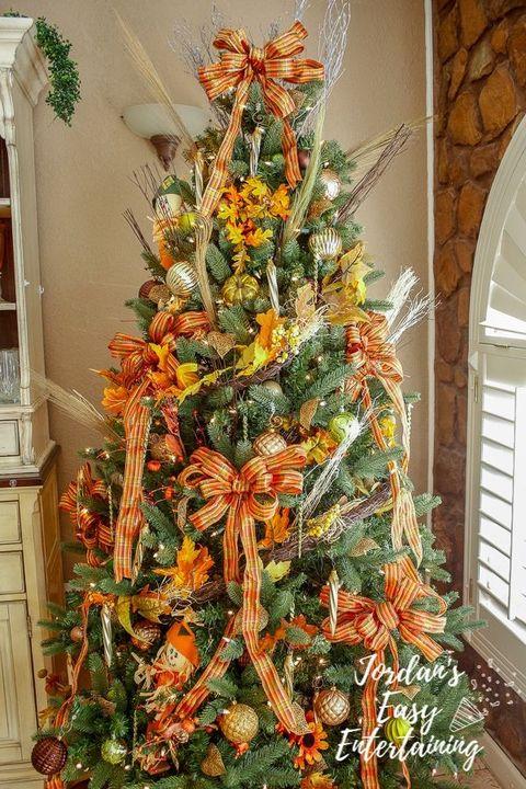 fall themed thanksgiving tree ideas