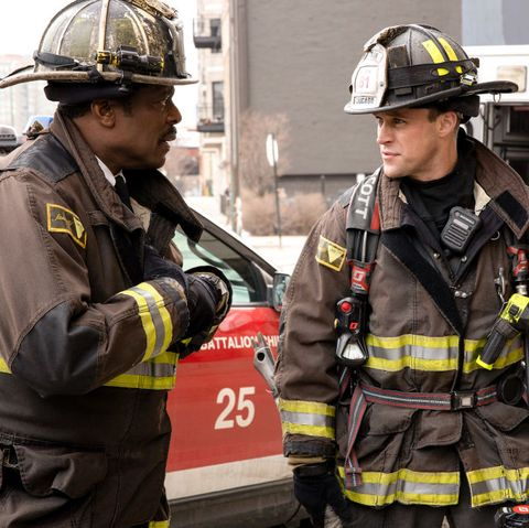 chicago fire    shut it down episode 814    pictured l r eamonn walker as battalion chief wallaca boden, jesse spencer as matthew casey    photo by adrian burrowsnbcnbcu photo bank via getty images