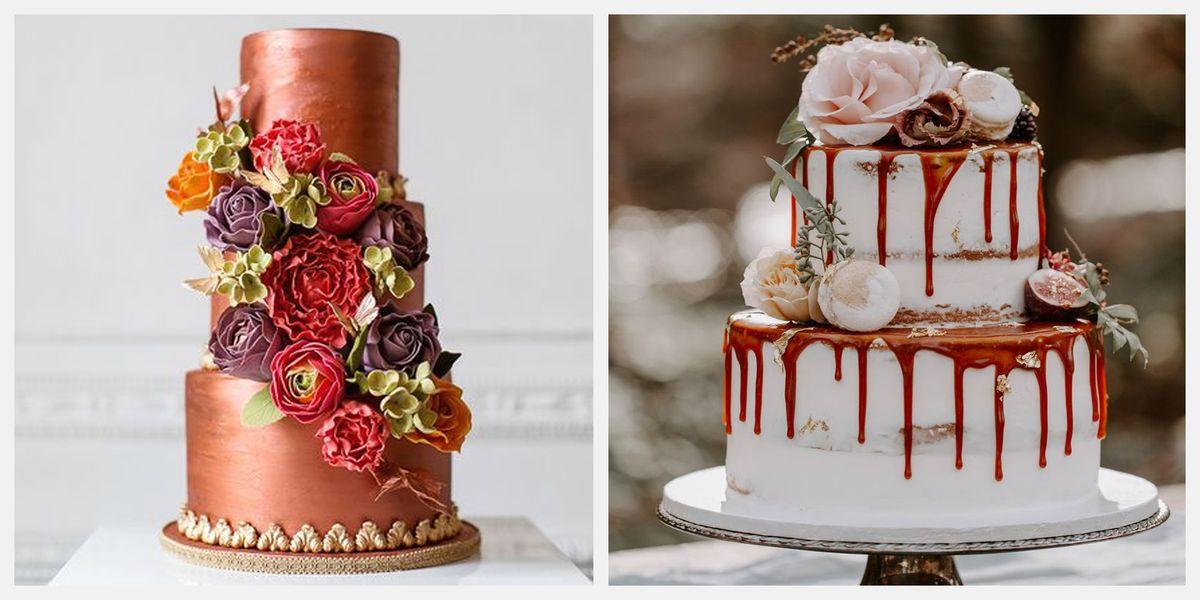 22 Decadent Fall Wedding Cakes Gorgeous Fall Wedding Cake Ideas