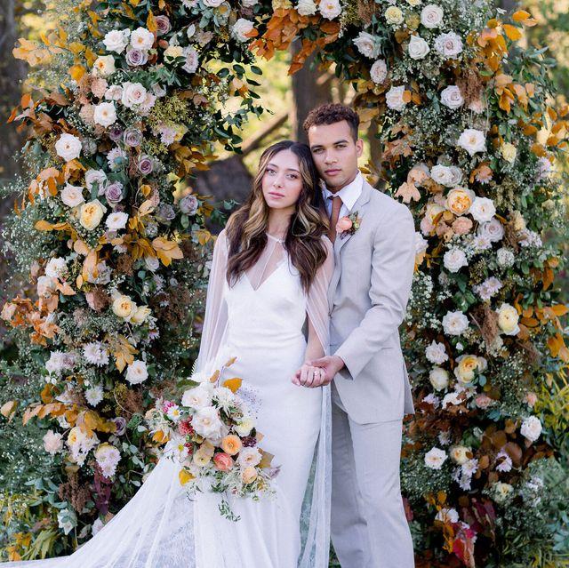 fall wedding ideas fall wedding ceremony arch