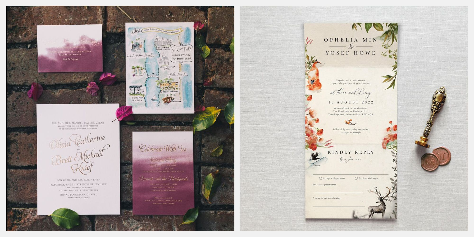 15 Autumn Wedding Invitations You're Sure to Fall in Love With