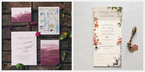 best fall wedding invitation ideas