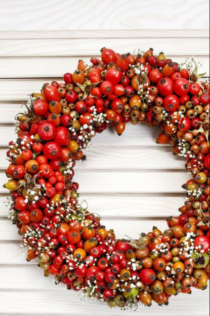 autumn berries fall wreath