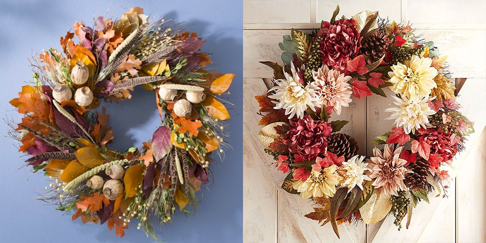 30 Easy Diy Fall Wreaths Best Homemade Wreaths For Fall