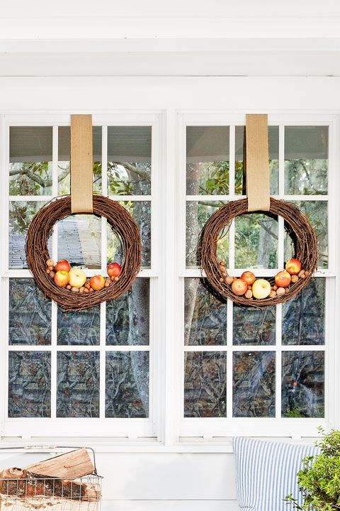 apple grapevine fall wreath
