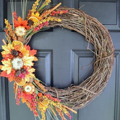 Falls Wreath Asymmetrical Wreath