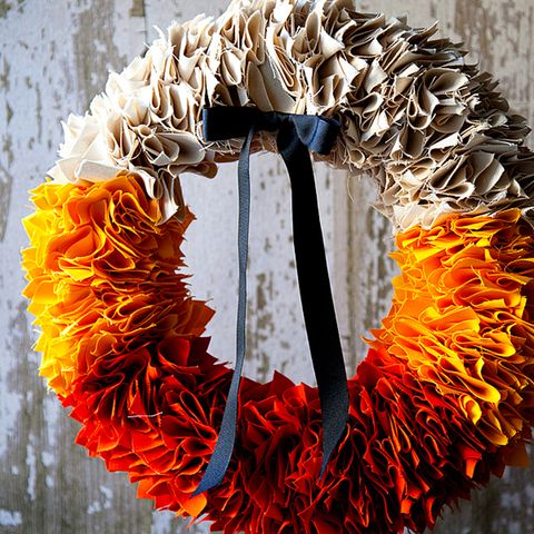 Fall Wreaths - Candy Corn Wreath