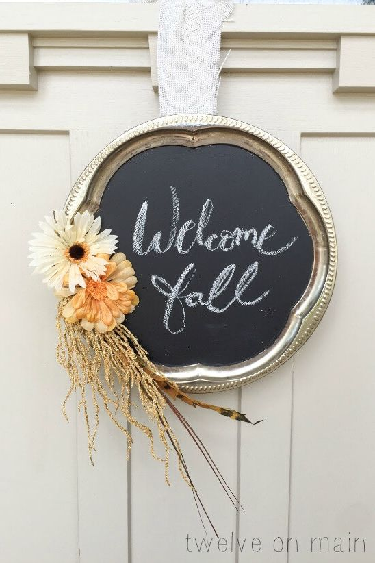 fall wreaths chalkboard