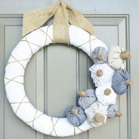 Fall Wreaths White Pumpkin Wreath