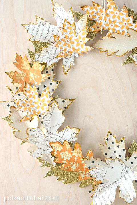 fall wreaths paper