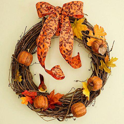 Fall Wreaths Rustic Pumpkin Wreath