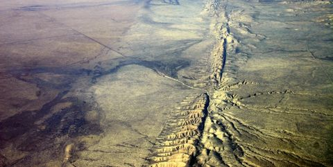 Sky, Aerial photography, Natural landscape, Atmosphere, Earth, Geology, Bird's-eye view, Cloud, Fault, Geological phenomenon,