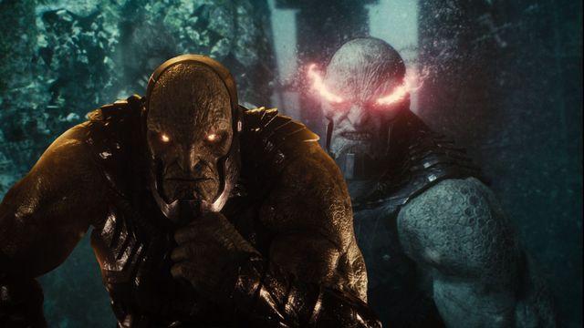 darkseid en dos escenas del snyder cut liga de la justicia, la película de hbo