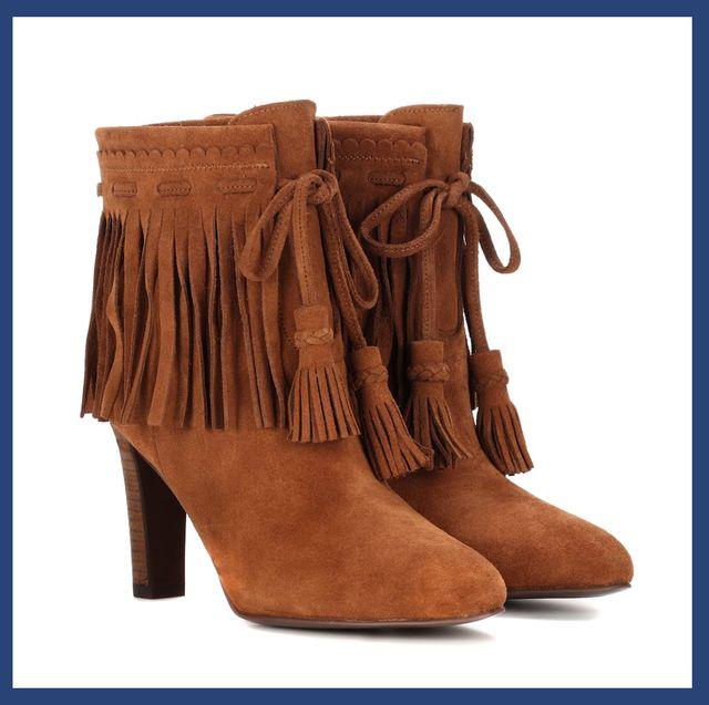 Footwear, Boot, Shoe, High heels, Brown, Leather, Suede, Durango boot, Beige,