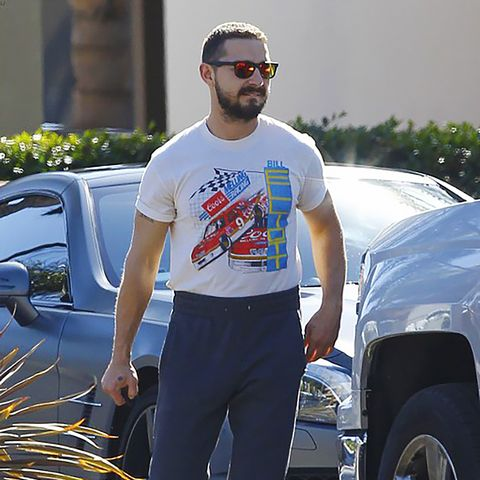 White, Sportswear, T-shirt, Sunglasses, Muscle, Spandex, Waist, Street fashion, Textile, Jeans,