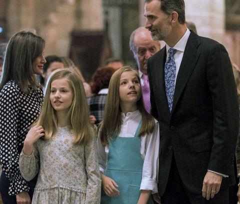 Familia Real Española Felipe VI, Reina Letizia, princesa Leonor, infanta Sofía
