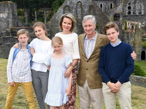 Matilde de Bélgica, Felipe de Bélgica, Elisabeth de Bélgica, Gabriel de Bélgica, Emmanuel de Bélgica, Éléonore de Bélgica
