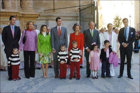 Familia Real misa de Pascua 2005