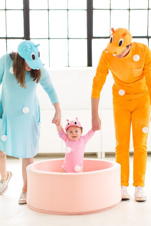 family costumes hungry hippos