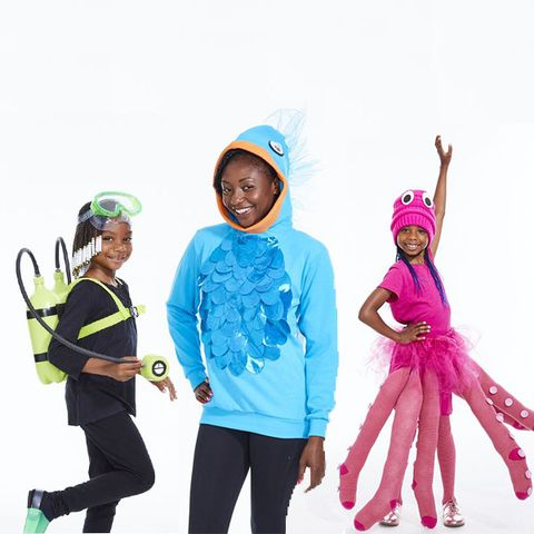 family halloween costumes under the sea