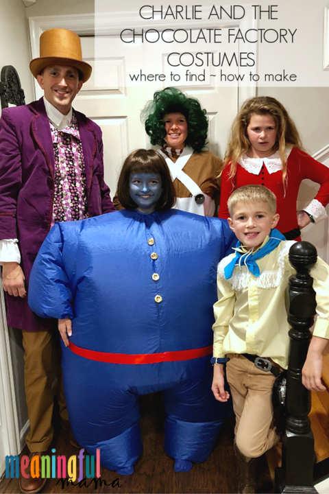 family halloween costumes charlie and the chocolate factory