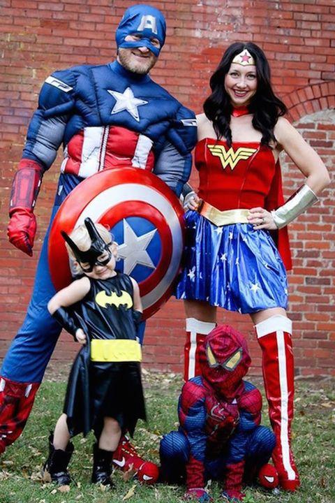 superhero family halloween costumes