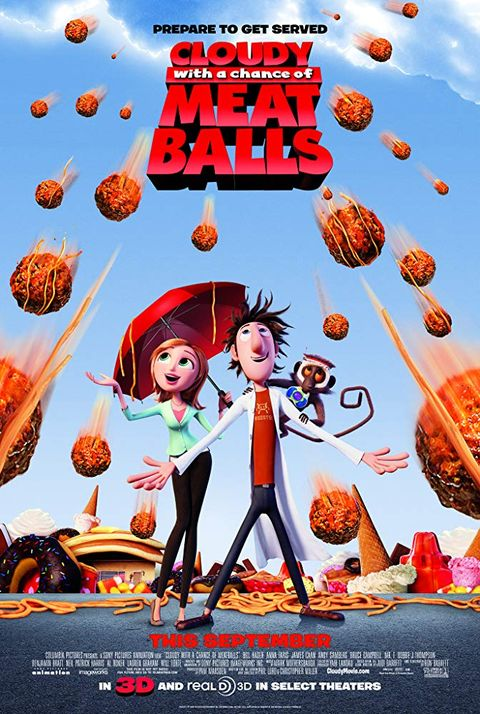 Netflix family movies -- Cloudy with a Chance of Meatballs