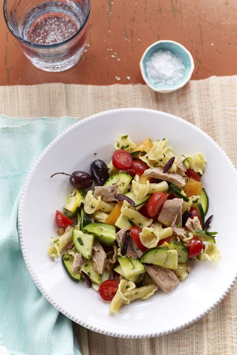 Family Style Recipes Rustic Pasta Toss with Tuna and Tomatoes