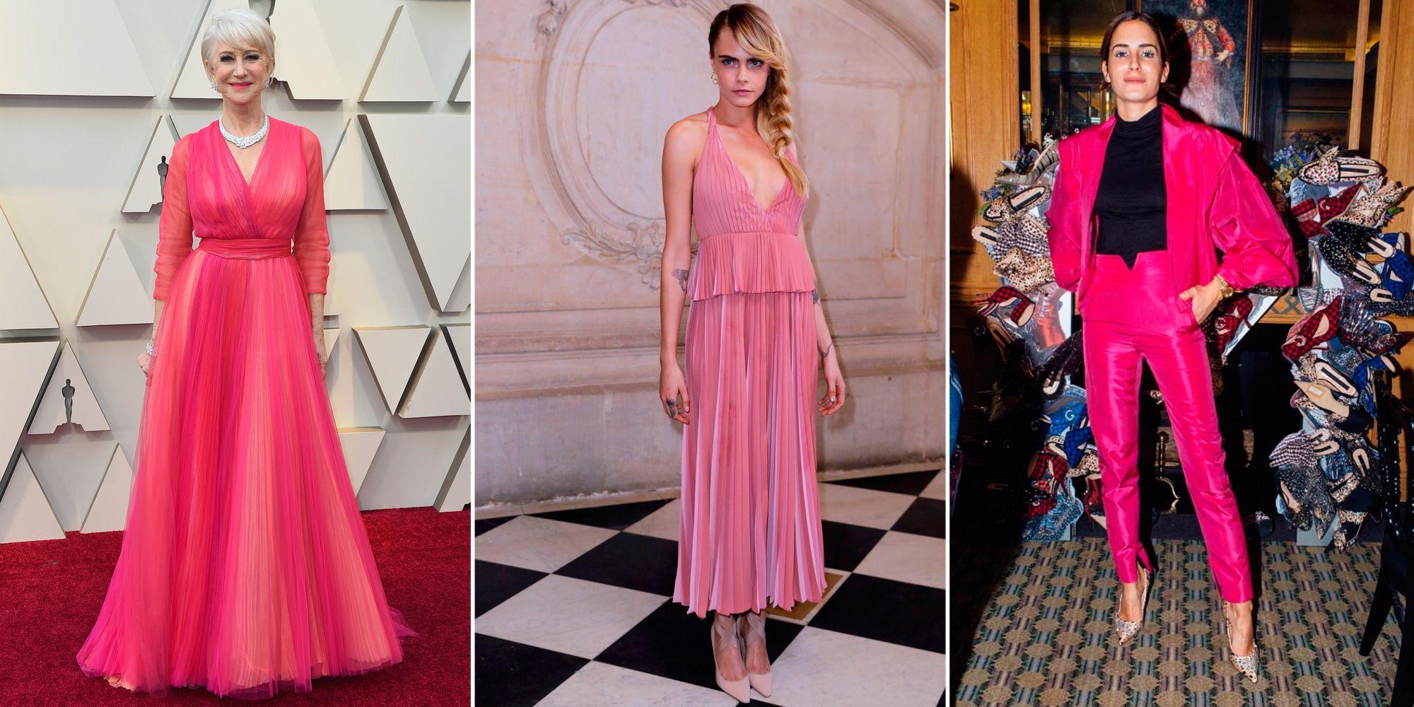vestidos rosas