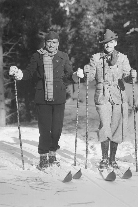 Douglas Fairbanks Posing with His Son