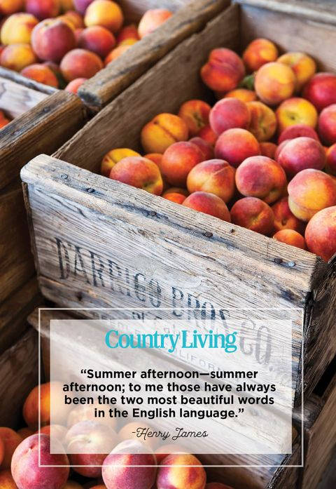 crates of peaches and a quote from henry james