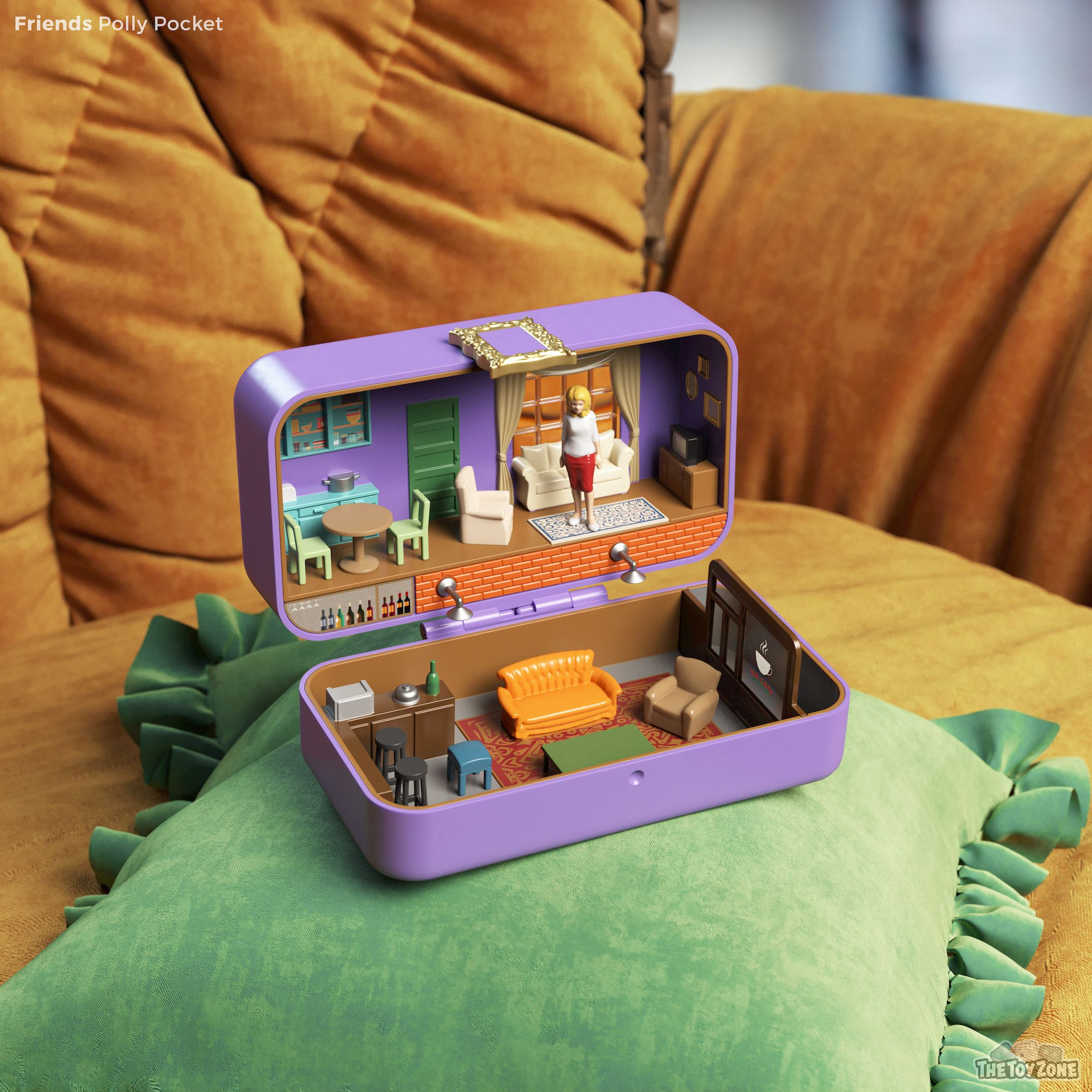 These Famous Tv Homes Have Been Given A Polly Pocket Makeover