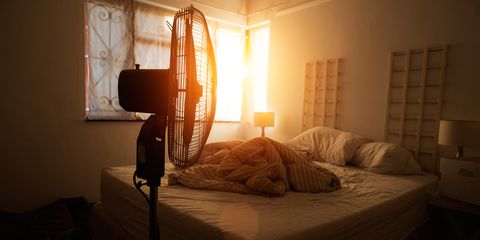 Sleeping with a fan on is actually a really bad idea